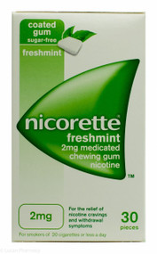 Nicorette® 2mg Medicated Chewing Gum  - Freshmint (30 Pieces)