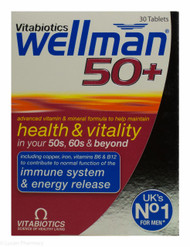 Vitabiotics Wellman® 50+ Health & Vitality - 30 Tablets