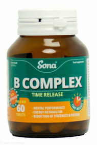 Sona® B Complex Time Release - 60 Tablets