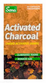 Sona® Activated Charcoal - 60 Capsules