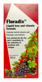 Floradix® Liquid Iron and Vitamin Formula Food Supplement - 500ml