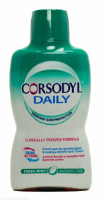 Corsodyl® Daily Fresh Mint Alcohol Free Dual Action Mouthwash - 500ml