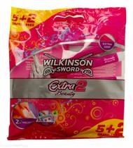 Lucan Pharmacy Wilkinson Sword Extra 2 Beauty Disposable Razors - 5+2 Free