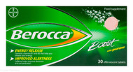 Berocca® Boost Sugar Free With Guarana - 30 Effervescent Tablets