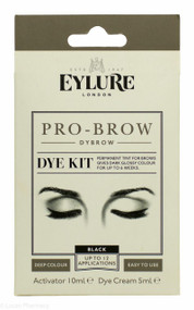 Eylure Pro-Brow Dye Kit Black - 12 Applications