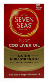 Seven Seas® Pure Cod Liver Oil Extra High Strength - 60 Capsules
