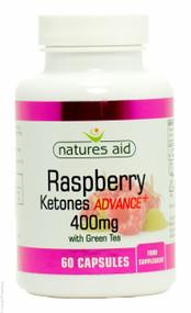 Nature's Aid Raspberry Ketones Advance+ 400mg with Green Tea - 60 capsules