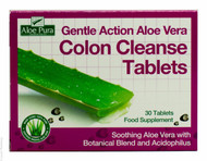 Aloe Vera Gentle Action Colon Cleanse Tablets - 30 Tablets