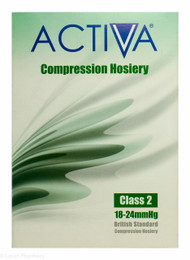 Activa® Class 2 Compression Hosiery Thigh Length Large Black