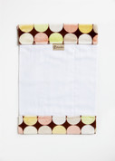 Chocolate Retro Dot Burp Cloth