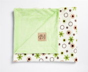 Daisy Rings Blanket Green