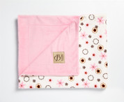 Daisy Rings Blanket Pink