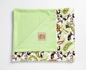 Perfect Paisley Blanket Green