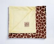 Safari Blanket Giraffe Yellow