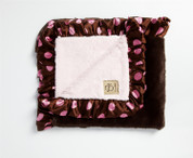 Brown Lux Satin Trim Blanket 30x36