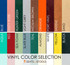 Vinyl color selection by Seats and Stools
