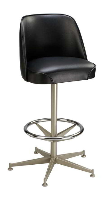 This 5 Legged Bar Stool Base With Ring Features A 360 Degree Swivel, Chrome  Ring