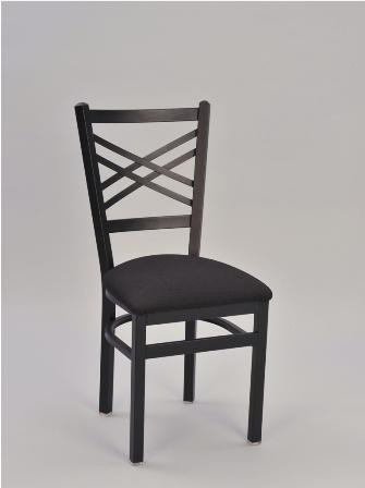 Crosshatch Chair Metal And Fabric Dining Chairs