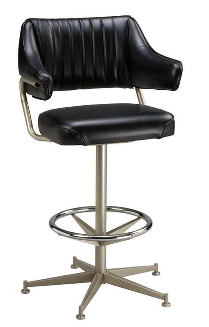 Padded Bar Stool With Arms Bucket Seat Stool