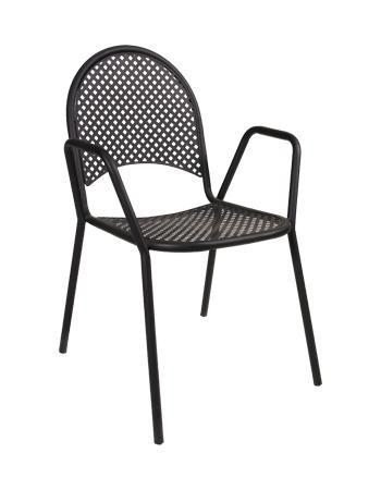 Black Metal Outdoor Chair Mesh Outdoor Chairs Seats