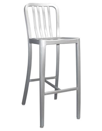 Ordinaire The Rosa Outdoor Aluminum Bar Stool Sports A Contemporary Slat Back Style,  And Features A