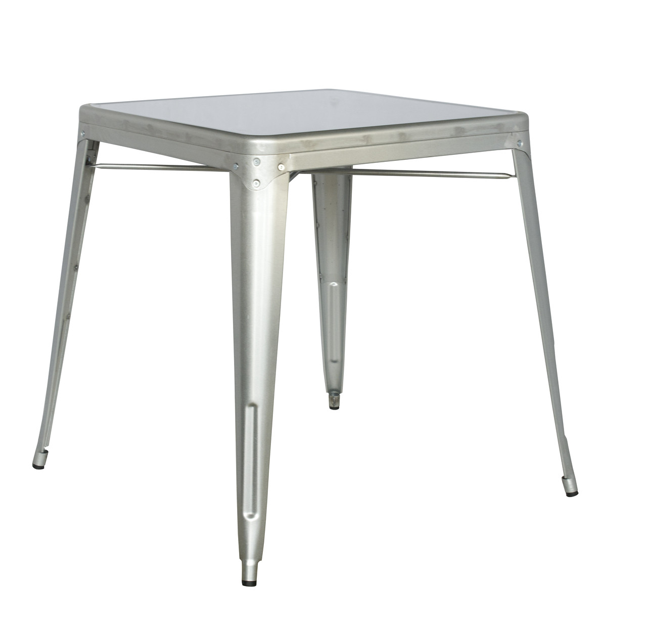 Galvanized Dining Table Outdoor Steel Table Seats And
