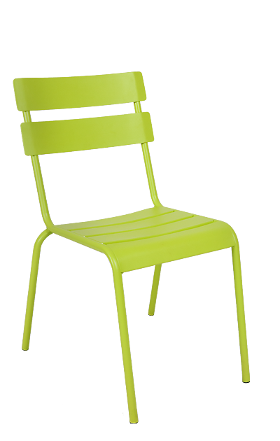 Green Outdoor Chairs Metal Ladder Back Chairs