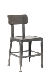 This metal armchair in black is a modern, versatile addition to your home, restaurant or bar.