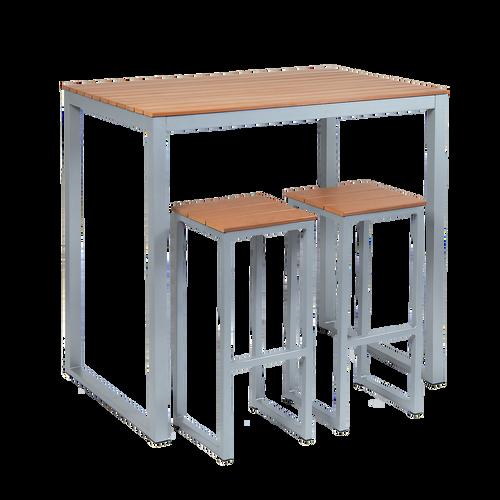 Bar Height Outdoor Dining Table Imitation Teak Bar Table