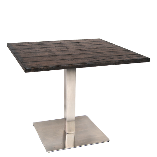 Faux Wood Outdoor Dining Table Concrete Top Outdoor Table