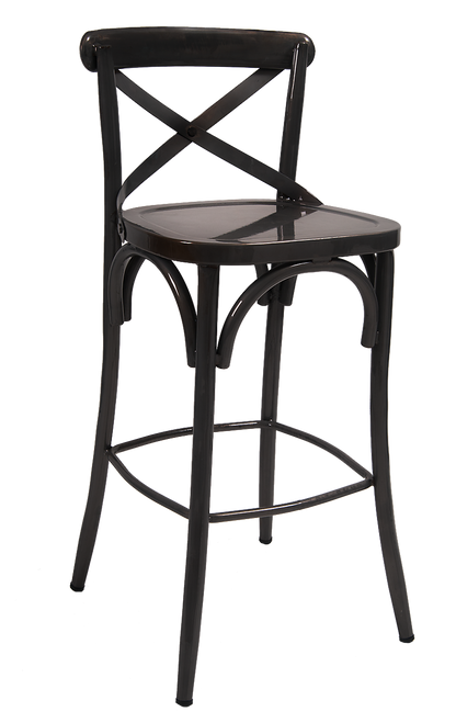 Black Metal Bar Stools Cross Back Bar Stools
