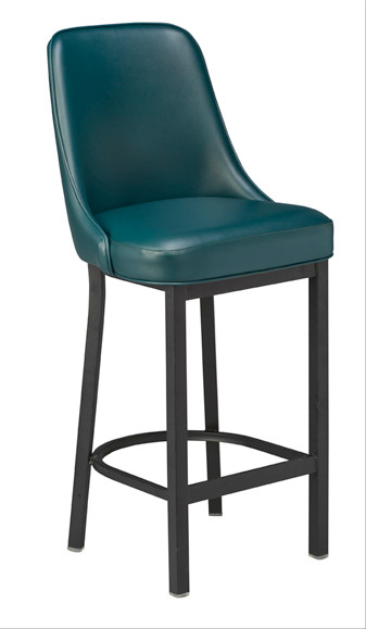 Curved Bar Stool Cushioned Counter Stool
