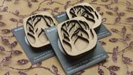 Funky Wooden Brooch - Treescape