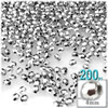 Beads, Faceted, 4mm, Silver, 200-pc, The Crafts Outlet
