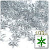 Starflake bead, SnowFlake, Cartwheel, Transparent, 18mm, 100-pc, Clear