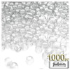 Pony Beads, Transparent, 9x6mm, 1,000-pc, Clear