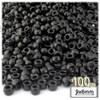 Pony Beads, Opaque, 6x9mm, 100-pc, Black