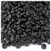 Pony Beads, Opaque, 6x9mm, 100-pc, Black, no insert