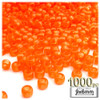 Pony Beads, Transparent, 9x6mm, 1,000-pc, Orange