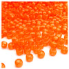Pony Beads, Transparent, 9x6mm, 1,000-pc, Orange, no insert