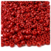 Pony Beads, Opaque, 6x9mm, 100-pc, Red, no insert
