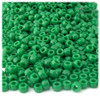 Pony Beads, Opaque, 6x9mm, 100-pc, Emerald green, no insert