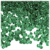 Plastic Tri-Bead, Transparent, 11mm, 200-pc, Emerald green
