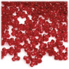 Plastic Tri-Bead, Transparent, 11mm, 200-pc, Christmas Red