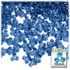 Plastic Tri-Bead, Transparent, 11mm, 200-pc, Royal Blue