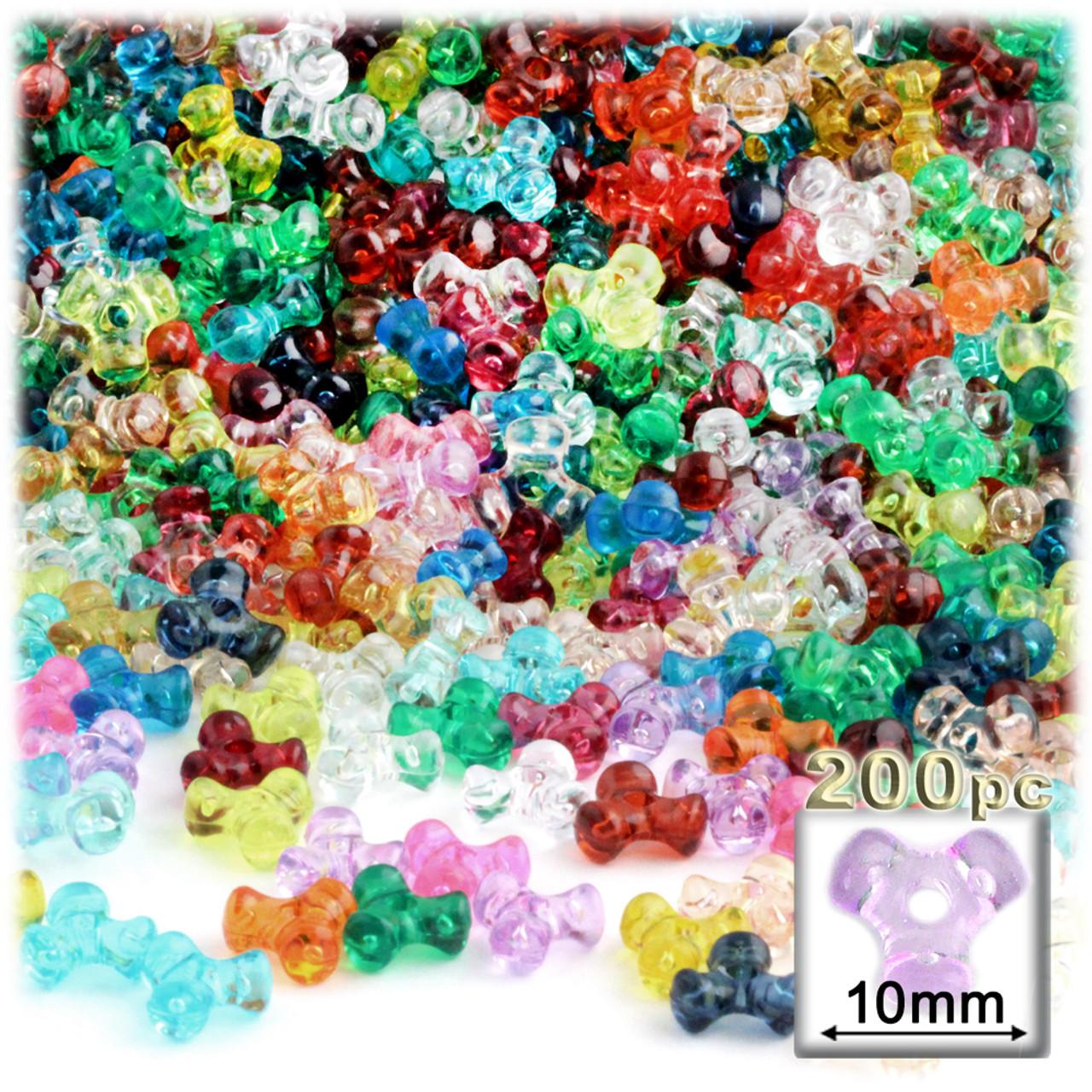 Tri Mix K : Plastic tri bead transparent mm pc multi mix