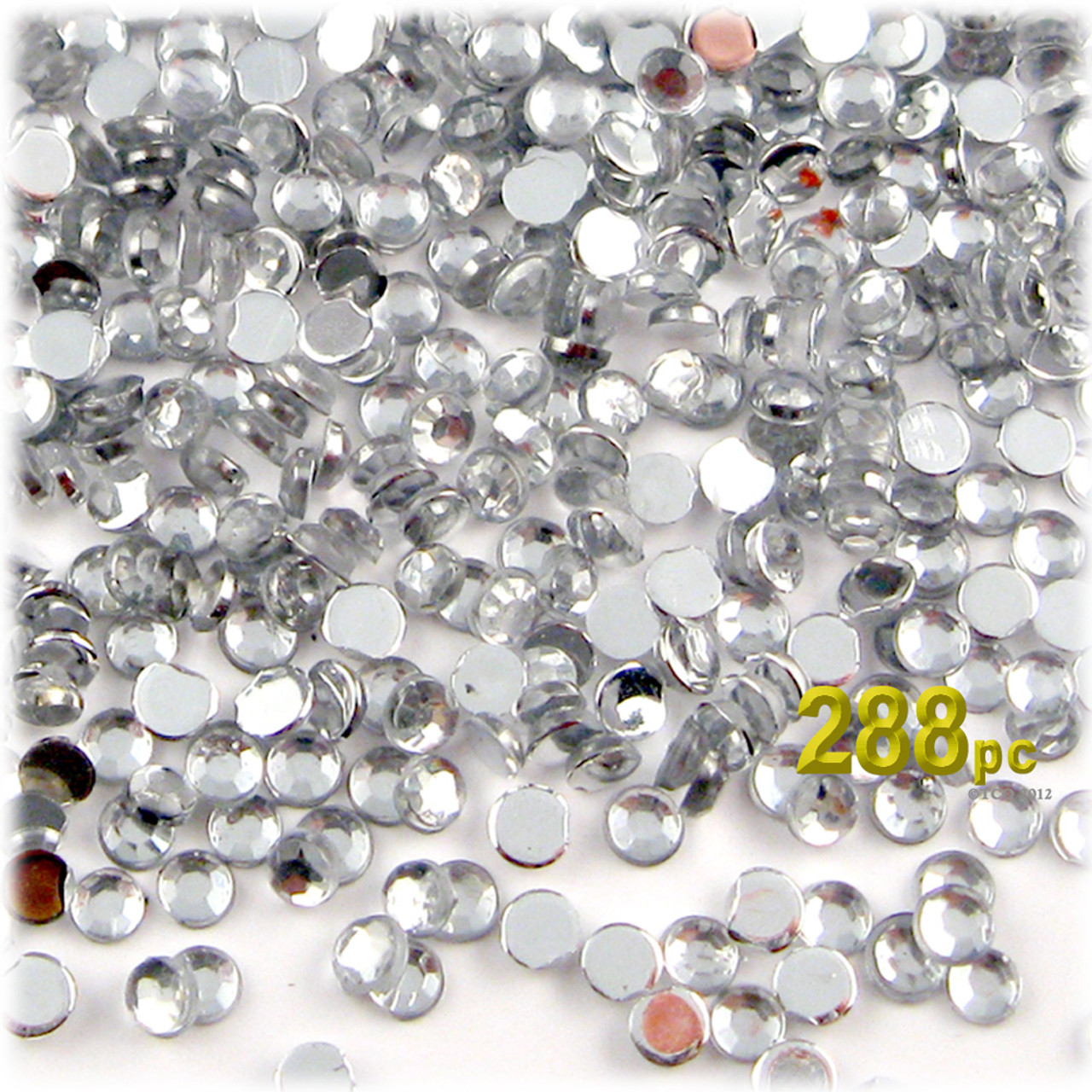 Rhinestones flatback round 4mm 288 pc clear for Rhinestone jewels for crafts