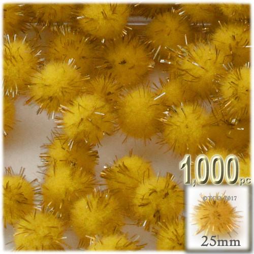 Pom Pom, 25mm-, 1,000-pc, Yellow
