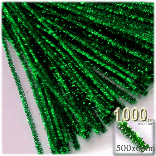 Stems, Sparkly, 20-in, 1000-pc, Emerald Green