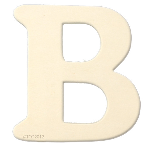 Unfinished Wood, 4-in, 1/8-in Thick, Letter, Letter B